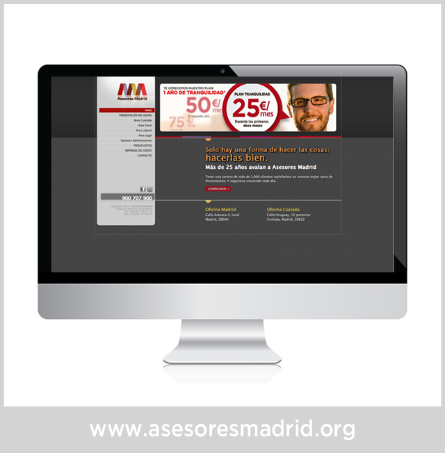 WEB CORPORATIVA ASESORES MADRID